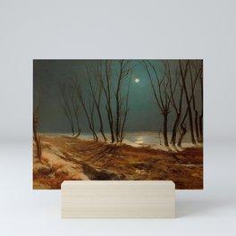 Carl Blechen - Landscape in Winter at Moonlight - German Romanticism - Oil Painting Mini Art Print