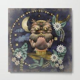 Boho Owl Metal Print