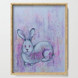 white rabbit Serving Tray