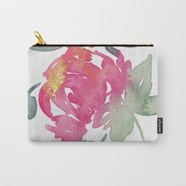 Watercolor Flowers - Peonies Carry-All Pouch