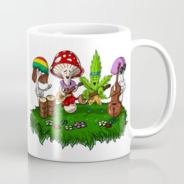 Hippie Mushrooms Party Coffee Mug
