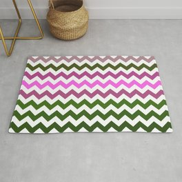 Pink Roses in Anzures 1 Chevron 1 Rug