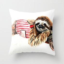 Sassy Sloth Throw Pillow