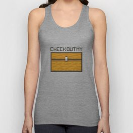 PAUSE – Check out my Chest Unisex Tank Top