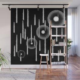White Drops Wall Mural