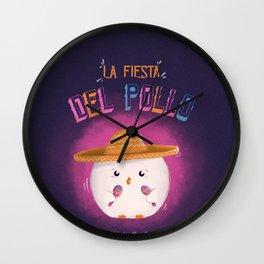 La Fiesta Del Pollo Wall Clock