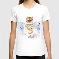 tiger T-shirts featuring Tiger by Anna Shell