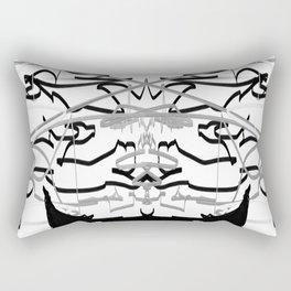 Artistic bat in the darkness , Abstract, art, Gray, black,  graffity, points, bat Rectangular Pillow