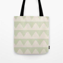Geometric Pyramid Pattern - Soft Green Tote Bag