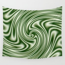 Spearmint Ribbon Candy Fractal Wall Tapestry