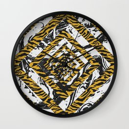 Wild Geometric Marble Wall Clock