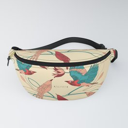 Birds and leaves Fanny Pack
