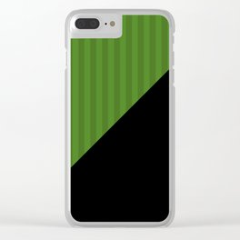 Black, green , striped Clear iPhone Case