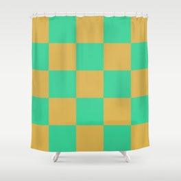 retro chess pattern Madremonte Shower Curtain