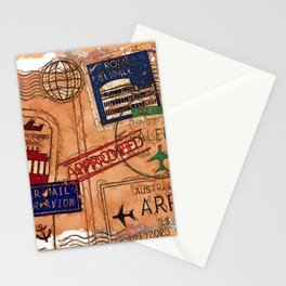 Entry Approved - Passport Stamps Stationery Cards