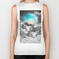 mountains Biker Tanks featuring It Seemed To Chase the Darkness Away by soaring anchor designs