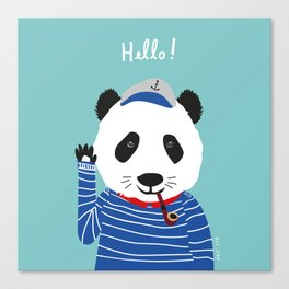 Mr. Panda Seaman Canvas Print