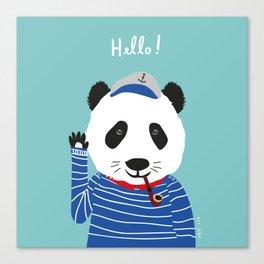 Mr. Panda Seaman Canvas Print