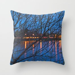 Budding Twilight Spring Throw Pillow