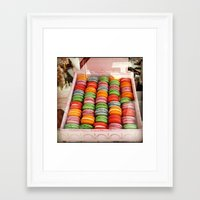 macaroons Framed Art Prints featuring Macaroons by Mia Kellman