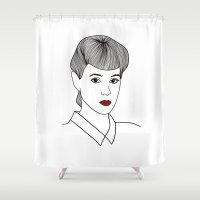 blade runner Shower Curtains featuring Rachael. Blade Runner by Whiteland