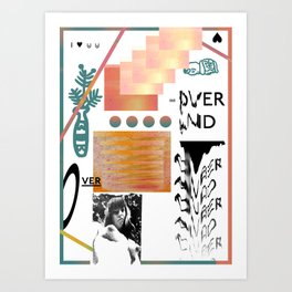 I love tits (overandover) Art Print
