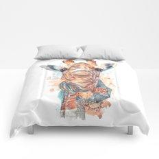 Giraffe with Scarf Comforters