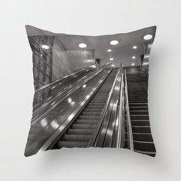 Underground station - stairs - Brandenburg Gate - Berlin Throw Pillow