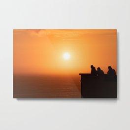 Sunset in Lima Metal Print