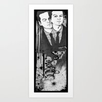 moriarty Art Prints featuring Moriarty by suis0u