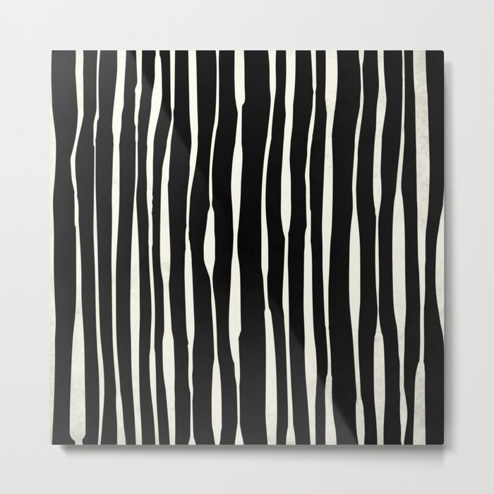 Retro Stripe Metal Print