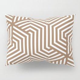 Liver chestnut - brown - Minimal Vector Seamless Pattern Pillow Sham
