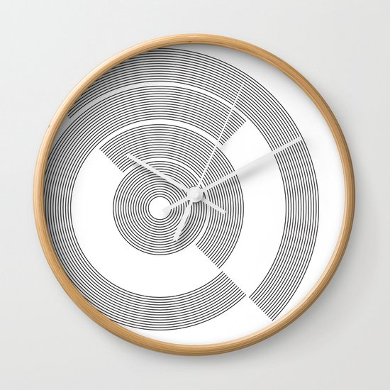 circle pattern 01 Wall Clock