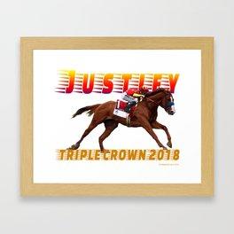 Justify Triple Crown Framed Art Print