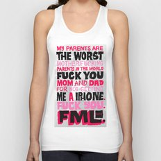 Shitty Kid Wanted an iPhone Unisex Tank Top