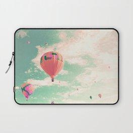 Pink nursery hot air balloons Laptop Sleeve
