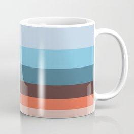 Mystical Forest Colour Block Stripes Coffee Mug