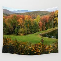 vermont Wall Tapestries featuring Warren Vermont Foliage by Vermont Greetings