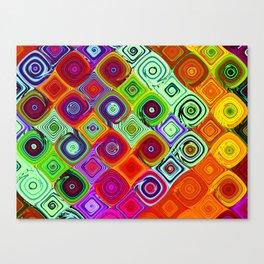 Mosaic Abstract Fractal Art Canvas Print