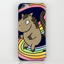 Super Horse Surfs The Rainbow iPhone Skin