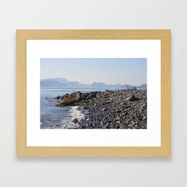 sunny landing Framed Art Print