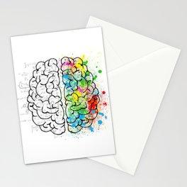 Logic vs Creativity Stationery Cards