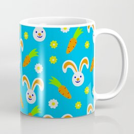 Easter Bunny and Carrots Pattern Coffee Mug