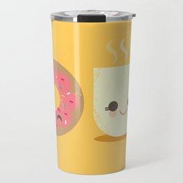 Coffee and Donut Buds Travel Mug