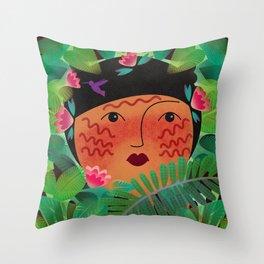 Yanomami Throw Pillow