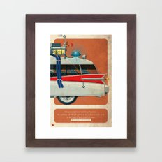 Ecto-1 from Ghostbusters part III of III Framed Art Print