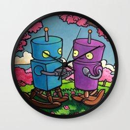 Robot - Crabapple Wall Clock