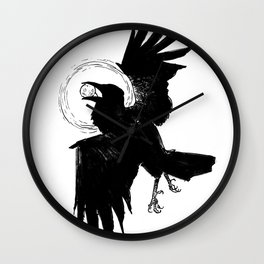 The Raven Who Caught The Moon Wall Clock