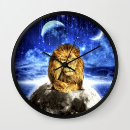 Grumpy Lion Wall Clock