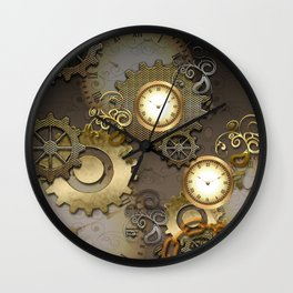 Abstract mechanical design Wall Clock